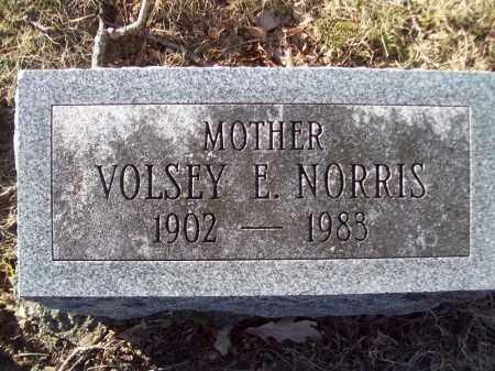 NORRIS, VOLSEY E - Tazewell County, Illinois   VOLSEY E NORRIS - Illinois Gravestone Photos