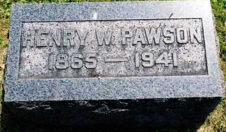 PAWSON, HENRY WEEKS - Tazewell County, Illinois | HENRY WEEKS PAWSON - Illinois Gravestone Photos