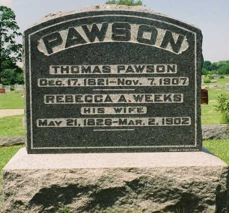 WEEKS PAWSON, REBECCA A. - Tazewell County, Illinois | REBECCA A. WEEKS PAWSON - Illinois Gravestone Photos