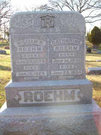 ROEHM, WILLIAM F - Tazewell County, Illinois | WILLIAM F ROEHM - Illinois Gravestone Photos