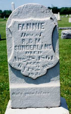 "SUNDERLAND, FRANCIS JANE ""FANNIE"" - Tazewell County, Illinois 