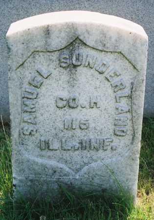 SUNDERLAND, SAMUEL - Tazewell County, Illinois | SAMUEL SUNDERLAND - Illinois Gravestone Photos