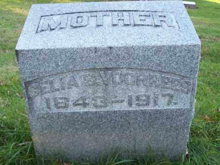 VOORHEES, CELIA S - Tazewell County, Illinois | CELIA S VOORHEES - Illinois Gravestone Photos