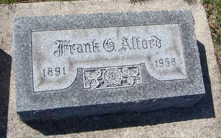 ALFORD, FRANK G. - Will County, Illinois | FRANK G. ALFORD - Illinois Gravestone Photos