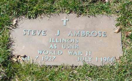 AMBROSE, STEVE J. - Will County, Illinois | STEVE J. AMBROSE - Illinois Gravestone Photos