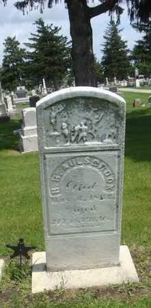AULSBROOK, H. R. - Will County, Illinois   H. R. AULSBROOK - Illinois Gravestone Photos