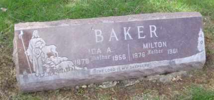 BAKER, MILTON - Will County, Illinois   MILTON BAKER - Illinois Gravestone Photos