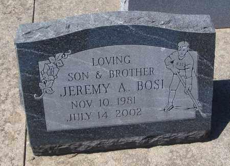 BOSI, JEREMY A. - Will County, Illinois | JEREMY A. BOSI - Illinois Gravestone Photos