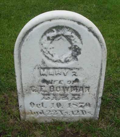 BOWMAN, MARY - Will County, Illinois | MARY BOWMAN - Illinois Gravestone Photos