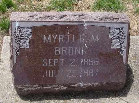 BRONK, MYRTLE M. - Will County, Illinois | MYRTLE M. BRONK - Illinois Gravestone Photos