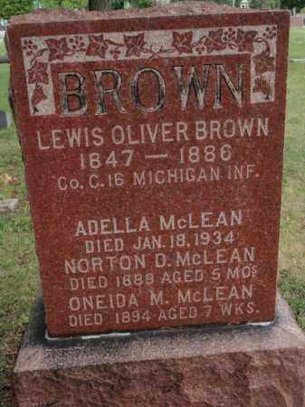 BROWN, ADELLA - Will County, Illinois | ADELLA BROWN - Illinois Gravestone Photos