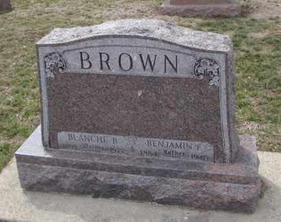 BROWN, BENJAMIN F. - Will County, Illinois | BENJAMIN F. BROWN - Illinois Gravestone Photos