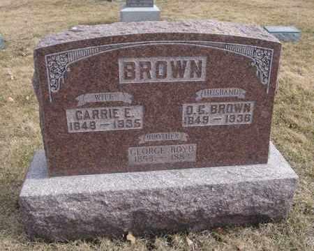 BROWN, O. G. - Will County, Illinois | O. G. BROWN - Illinois Gravestone Photos