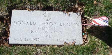 BROWN, DONALD LEROY - Will County, Illinois | DONALD LEROY BROWN - Illinois Gravestone Photos