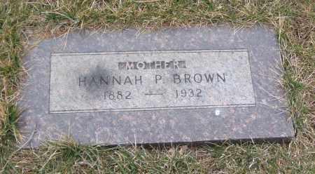 BROWN, HANNAH P. - Will County, Illinois | HANNAH P. BROWN - Illinois Gravestone Photos