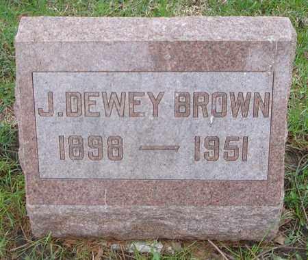 BROWN, J. DEWEY - Will County, Illinois | J. DEWEY BROWN - Illinois Gravestone Photos