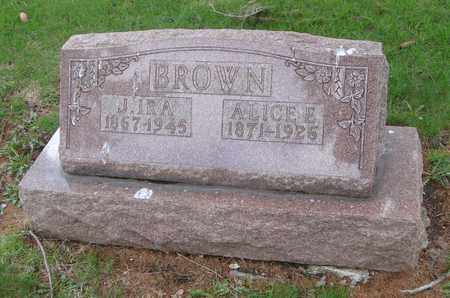 BROWN, ALICE E. - Will County, Illinois | ALICE E. BROWN - Illinois Gravestone Photos
