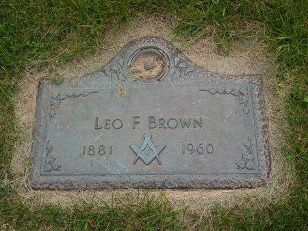 BROWN, LEO F - Will County, Illinois | LEO F BROWN - Illinois Gravestone Photos