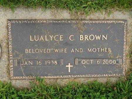 BROWN, LUALYCE C - Will County, Illinois | LUALYCE C BROWN - Illinois Gravestone Photos