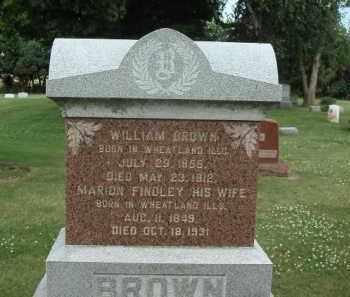 BROWN, MARION - Will County, Illinois | MARION BROWN - Illinois Gravestone Photos