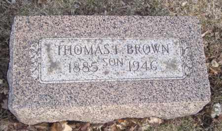 BROWN, THOMAS F. - Will County, Illinois | THOMAS F. BROWN - Illinois Gravestone Photos