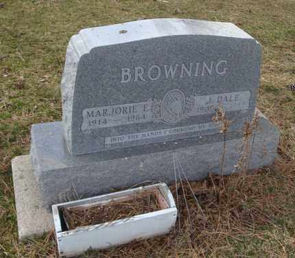 BROWNING, MARJORIE E. - Will County, Illinois | MARJORIE E. BROWNING - Illinois Gravestone Photos