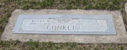 CONKLIN, DUNCAN B. - Will County, Illinois | DUNCAN B. CONKLIN - Illinois Gravestone Photos