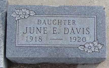 DAVIS, JUNE E. - Will County, Illinois | JUNE E. DAVIS - Illinois Gravestone Photos