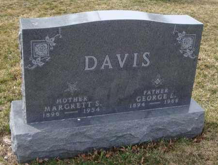 DAVIS, GEORGE L. - Will County, Illinois | GEORGE L. DAVIS - Illinois Gravestone Photos