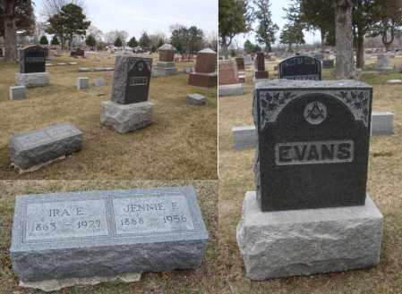 EVANS, JENNIE E. - Will County, Illinois | JENNIE E. EVANS - Illinois Gravestone Photos