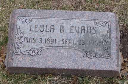 EVANS, LEOLA B. - Will County, Illinois | LEOLA B. EVANS - Illinois Gravestone Photos