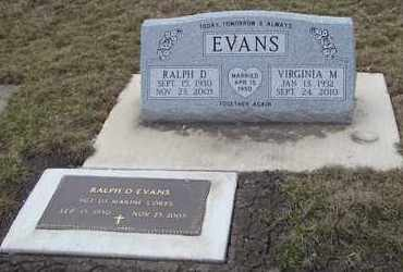 EVANS, VIRGINIA M. - Will County, Illinois   VIRGINIA M. EVANS - Illinois Gravestone Photos