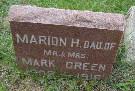 GREEN, MARION H. - Will County, Illinois   MARION H. GREEN - Illinois Gravestone Photos