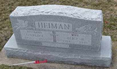 HEIMAN, ALICE B. - Will County, Illinois | ALICE B. HEIMAN - Illinois Gravestone Photos