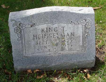 HEINSELMAN, KING T. - Will County, Illinois | KING T. HEINSELMAN - Illinois Gravestone Photos
