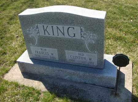 KING, FRANCES W. - Will County, Illinois | FRANCES W. KING - Illinois Gravestone Photos