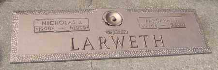 LARWETH, NICHOLAS J. - Will County, Illinois | NICHOLAS J. LARWETH - Illinois Gravestone Photos