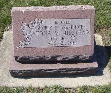 MILSTEAD, EDNA M. - Will County, Illinois | EDNA M. MILSTEAD - Illinois Gravestone Photos