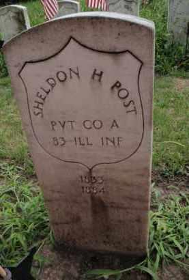 POST  (VETERAN USA), SHELDON H - Will County, Illinois | SHELDON H POST  (VETERAN USA) - Illinois Gravestone Photos