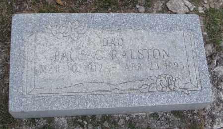 RALSTON, PAUL C. - Will County, Illinois | PAUL C. RALSTON - Illinois Gravestone Photos