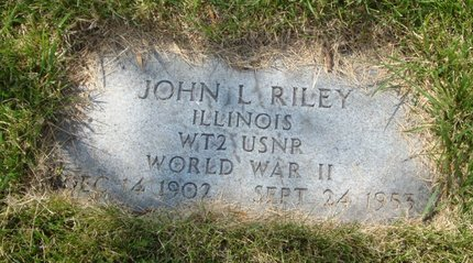 RILEY, JOHN L. - Will County, Illinois | JOHN L. RILEY - Illinois Gravestone Photos