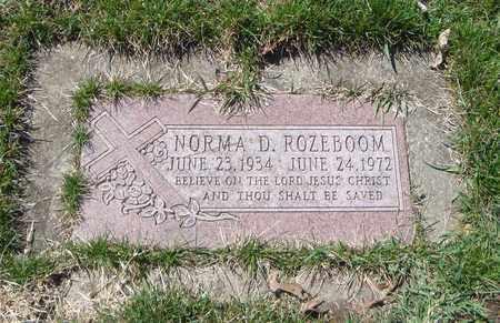 ROZEBOOM, NORMA D. - Will County, Illinois   NORMA D. ROZEBOOM - Illinois Gravestone Photos