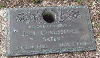 CHROSSFIELD SATEK, JUDY - Will County, Illinois | JUDY CHROSSFIELD SATEK - Illinois Gravestone Photos