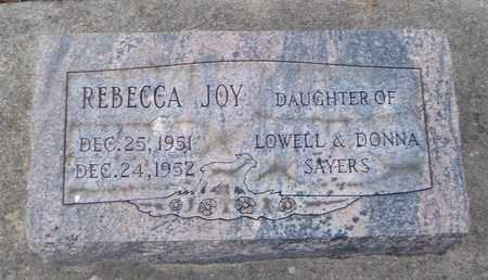 SAYERS, REBECCA JOY - Will County, Illinois | REBECCA JOY SAYERS - Illinois Gravestone Photos