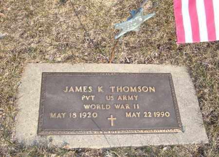THOMSON, JAMES K. - Will County, Illinois   JAMES K. THOMSON - Illinois Gravestone Photos