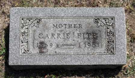 FITE, CARRIE - Winnebago County, Illinois   CARRIE FITE - Illinois Gravestone Photos