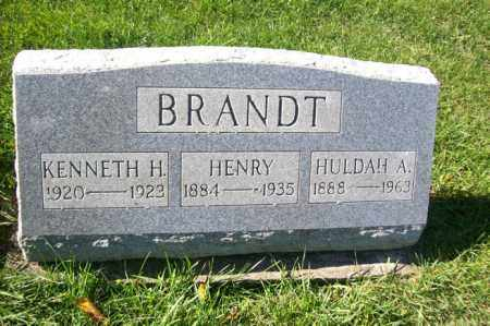 BRANDT, HULDAH A. - Woodford County, Illinois | HULDAH A. BRANDT - Illinois Gravestone Photos