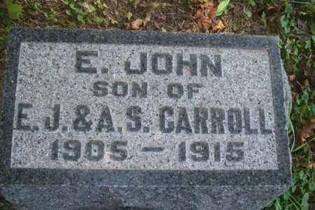 CARROLL, E. JOHN - Woodford County, Illinois | E. JOHN CARROLL - Illinois Gravestone Photos