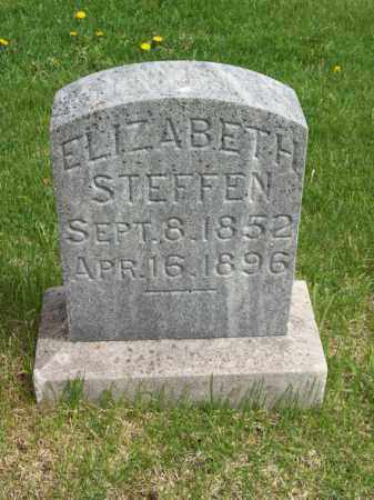STEFFEN, ELIZABETH - Woodford County, Illinois | ELIZABETH STEFFEN - Illinois Gravestone Photos