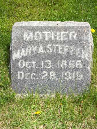 STEFFEN, MARY A. - Woodford County, Illinois | MARY A. STEFFEN - Illinois Gravestone Photos